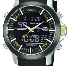 "NEW Pulsar Men's ""Active Sport"" Stainless Watch PW6001 NEED BATTERIES REPLACED"