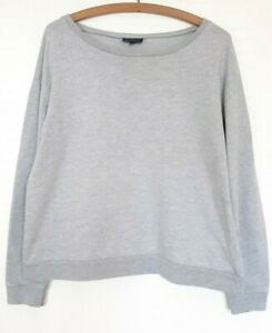 Ladies Topshop jersey top Size 12 grey marl long sleeve slouchy oversized