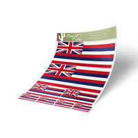 Hawaii Flag Sticker Decal Variety Size Pack 8 Total Pieces