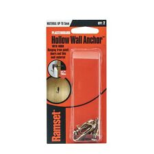 Ramset M4 x 0-5mm Hollow Wall Anchor With Hook - 2 Pack