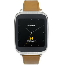 "Asus Zenwatch  WI500Q Gun Leather Dark Brown 1.63"" AMOLED Smart Wrist Watch"