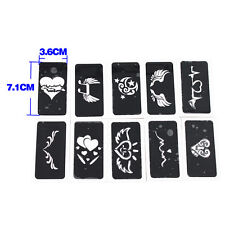 10x Heart-shaped Airbrush Stencil for Body Painting Temporary Tattoo 7.1 x 3.6cm