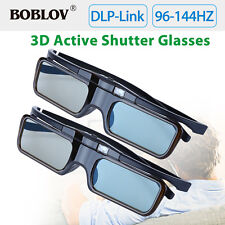 2PCS DLP-Link 96HZ-144HZ 3D Active Shutter Glasses For Optoma Samsung Acer BenQ