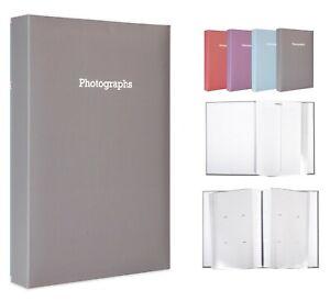 Large Silver Memo Slip In Photo Album Holds 300 6 x 4 Photos (10x15cm)