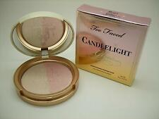 TOO FACED NIB CANDLELIGHT ROSY GLOW HIGHLIGHTING POWDER DUO, FULL SIZE .35 OZ