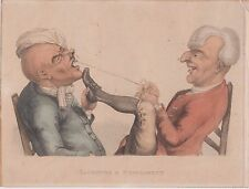 Laughter and Experiment from The Passions,T.Bobbin,1810 Dentist Cartoon