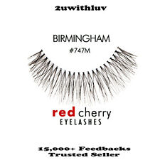 5 X RED CHERRY 100% HUMAN HAIR BLACK FALSE EYE LASHES #747M AUTHENTIC