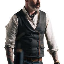 Men's Formal Business Vest Jacket Button Slim Fit Wedding Casual Waistcoat Coat