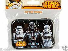 STAR WARS COTTON SWABS IN A REUSABLE TIN COLLECTIBLE NEW Q TIPS 30 SWABS DV