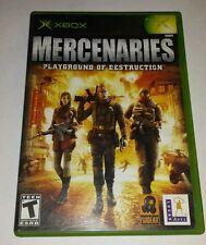 Mercenaries: Playground of Destruction - Original Xbox Game Complete with manual