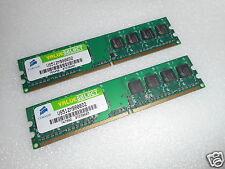 2x CORSAIR 512MB  CL5 800MHz PC2-6400 240 PINS DESKTOP MEMORY VS512MB800D2