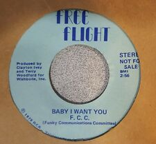 F C C ‎– F&B  Baby I Want You ~ Clear Blue Vinyl Promo (M-)