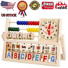 Children Baby Kids Learning Developmental Versatile Flap Abacus Wooden Toy Hot