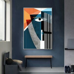Modern Nordic Abstract Geometric Figure Face Wall Art Pictures Canvas Painting