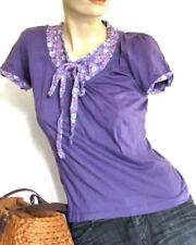 ZERO SHIRT Bluse Oberteil Damenshirt Damentop Tunika S 36 38 Lavendel Lila K62