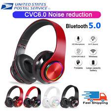 Bluetooth Gaming Headset Stereo Headphone Hi-Fi USB 3.5mm Earphone For Laptop PC