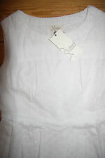 & Carina DRESS CIRCLE anglaise Abito Dress Cotton White Size: L Nuovo