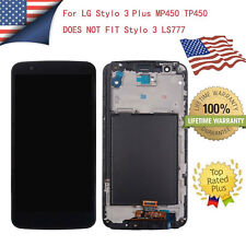 For LG Stylo 3 Plus MP450 TP450 LCD Touch Screen Replacement Digitizer Frame