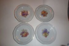 "Vintage Winterling U.S. Zone Germany Set of 4 Fruit Plates 7-1/4"" Lattice Edges"