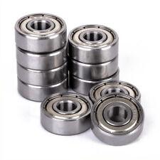 10pcs 606 ZZ Metal Miniature Deep Groove Shielded Ball Bearings 6x17x6 mm
