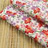 Japanese Sakura Floral Cream 100% Cotton Fabric Fat Quarter Quilting FQ #0134