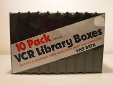 10-Pack Universal VCR Library Boxes VHS / Beta Storage Boxes