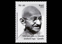 "Mahatma Gandhi birth 150 y "" An eye for an eye and the world will end up blind."""