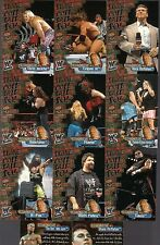WWF WRESTLE MANIA FLEER '01 STONE COLD STEVE AUSTIN SAID SO (11) CHASE CARD LOT