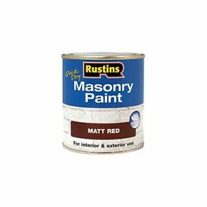RUSTINS MASONRY PAINT QUICK DRYING SMOOTH MATT FINISH - WALL, BRICK, STONE TILE