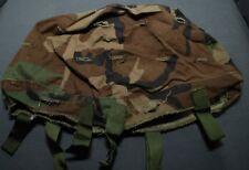 USGI WOODLAND CAMO US USMC M88 K-POT HELMET COVER  USED GRADE 2 MED-LRG