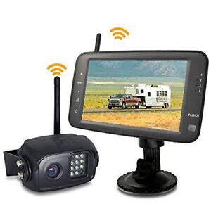 "5"" Monitor Digital Wireless Reversing Sony IR CCD Camera For Caravan Truck Kit"