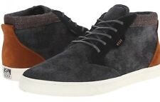 New Reef Mens Outhaul TX Black Denim lace-up Shoes Size 9 US