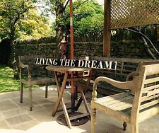 Living The Dream Sign vintage look 4.5ft Long Party BBQ WOOD SIGN Pub Hotel