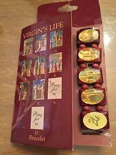 Blessed Mother of Jesus Virgin Mary Virgins Life wood wooden bracelet card HTF
