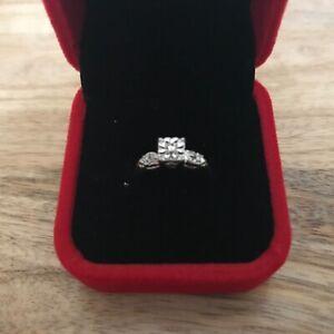 Estate 14K Yellow Gold Natural Diamond Illusion Setting Engagement Ring Size 6