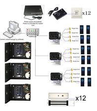 ZKaccess 12 Doors Network IP Door Controller Kits Magnetic Lock Power Supply Box