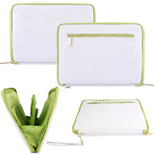 "10"" White Tablet Sleeve Notebook Carry Case For iPad  9.7 / iPad Air / iPad Mini"
