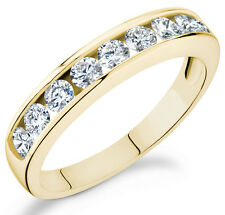 in 14k yellow gold Ca-100Y Diamond 1Ct Channel set eternity band