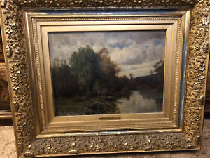 Beatiful Vintage Fine Oil Painting By C. Harry Eaton