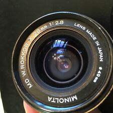 Minolta MD W.ROKKOR-X 28 MM 1:28 Lens