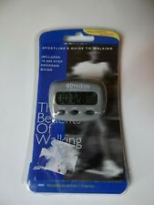Go Walking By Sportline Step And Distance Pedometer Hiking Jogging Count