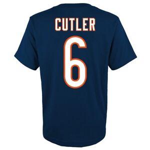 Jay Cutler NFL Chicago Bears Player Jersey T-Shirt w/ Team Logo Youth (S-XL)