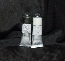 Ivory Black, Chinese White - Black & White oil paint set - 37ml