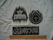 Three Large Darkstar Logo Skateboard Stickers  Set 2 New