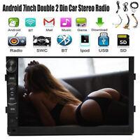 "Double 2DIN 7""Car Stereo Touchscreen GPS Navi WiFi 4G Radio MP5 Player Bluetooth"