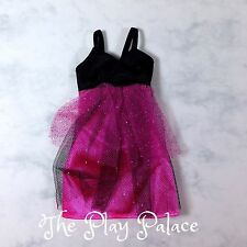 Barbie Fancy Dress Purple Black Tulle Spaghetti Strap Glitter Doll Clothes FS782
