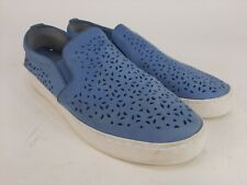 Vionic Womens Splendid Midi Light Blue Suede Casual Flats Loafers Slip On Sz 10