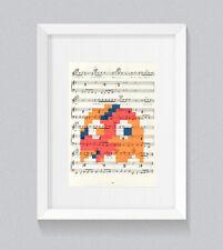 David BOWIE Pacman Fantasma arancione testi foglio di musica stampata