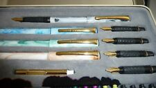 Vintage STAEDTLER Calligraphy Pen Set Starter Kit 4 PENS/ 5 NIPS/ PUMP /10 INKS
