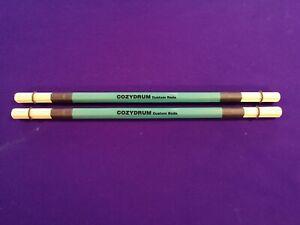 COZYDRUM DUAL PRO ROD DRUM STICKS Hand made British Custom rods.. Bamboo/Birch